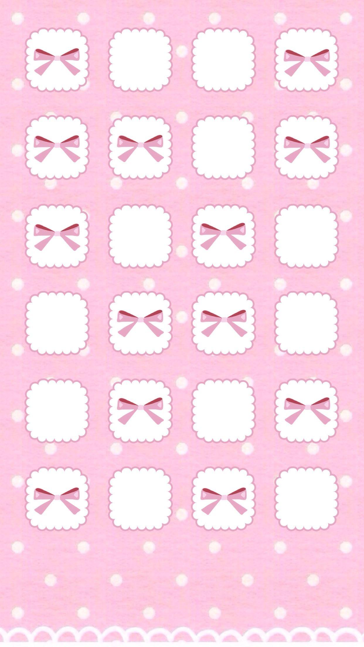 Pink Bows Phone Wallpapers Iphone Wallpaper Wallpaper Kawaii