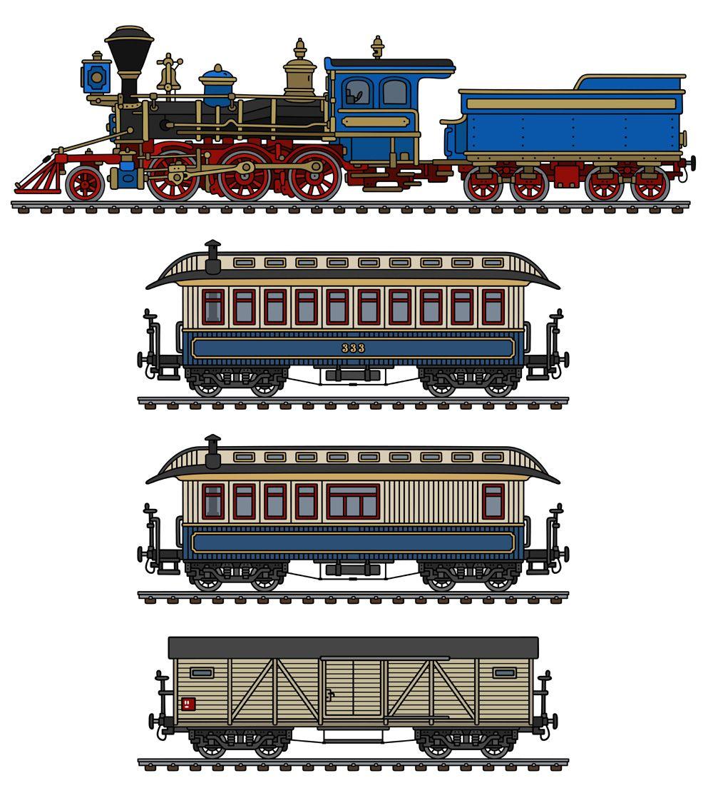 The Vintage American Steam Train Trein