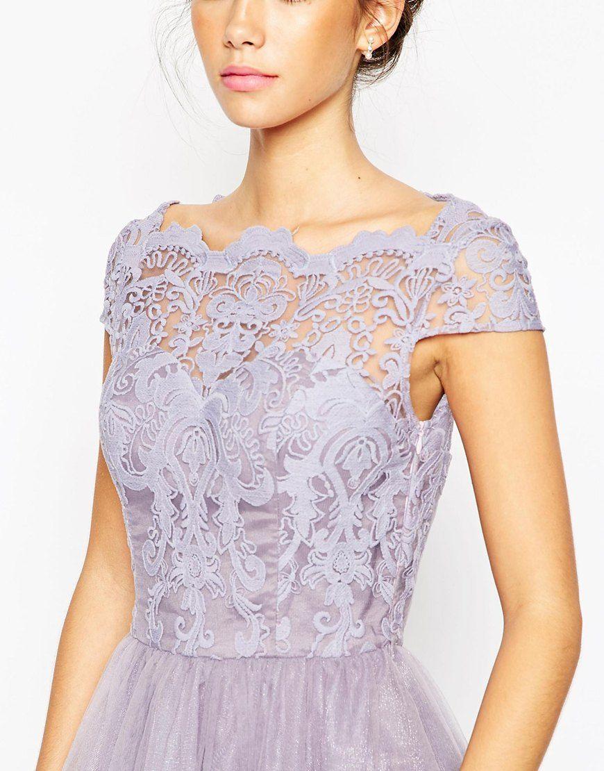 acd10d44be Sukienki midi - Strona 8 z 8 - I Love Chi Chi - sklep z sukienkami  wieczorowymi. Image 3 of Chi Chi London Premium Lace Midi Prom Dress with  Bardot Neck