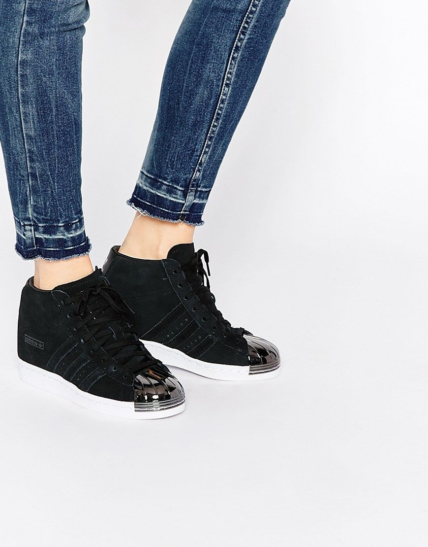 adidas Superstar Up Strap Womens Carbon/Carbon/Black from