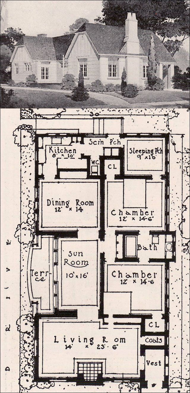 Pin By Annie Keasbey Allerdice On Cottages Cottage Floor Plans House Plan Gallery Vintage House Plans