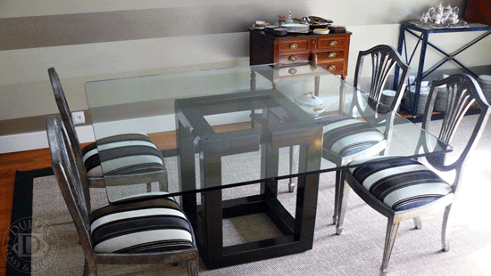54 Inch Square Glass Table Top 1 4 Inch Thick Flat Polished Eased Corners Tempered Glass Top Table Table Patio Table Top