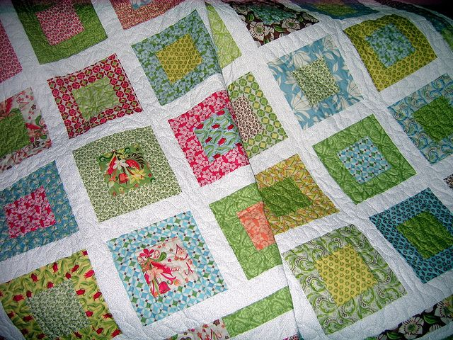 #quilt made with Kate Spain fabric