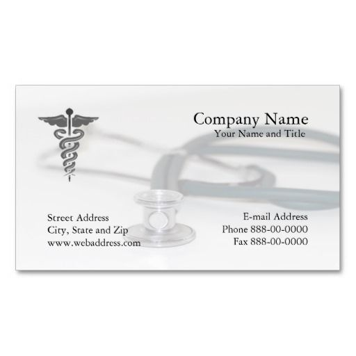 Physician Business Card Business cards and Business - medical business card templates