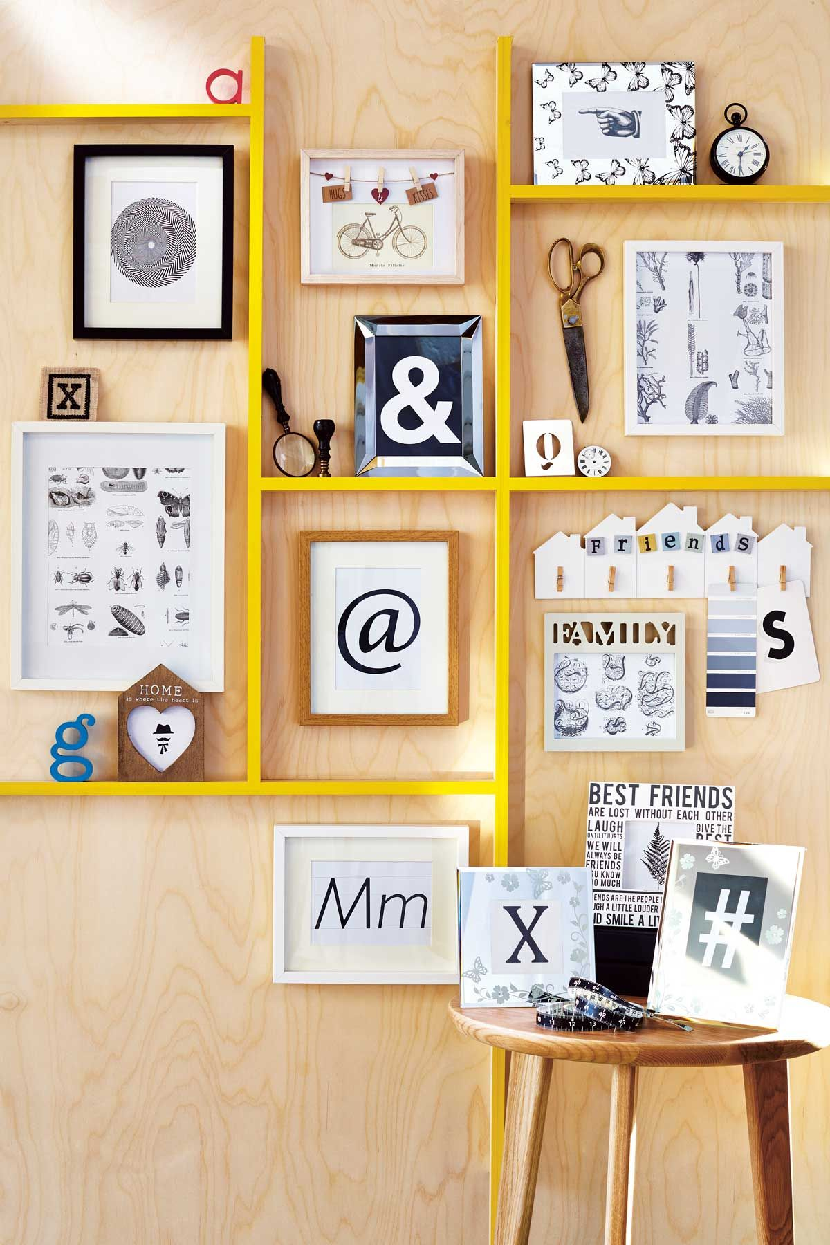 Lovely Wall Of Frames Ideas Gallery - The Wall Art Decorations ...