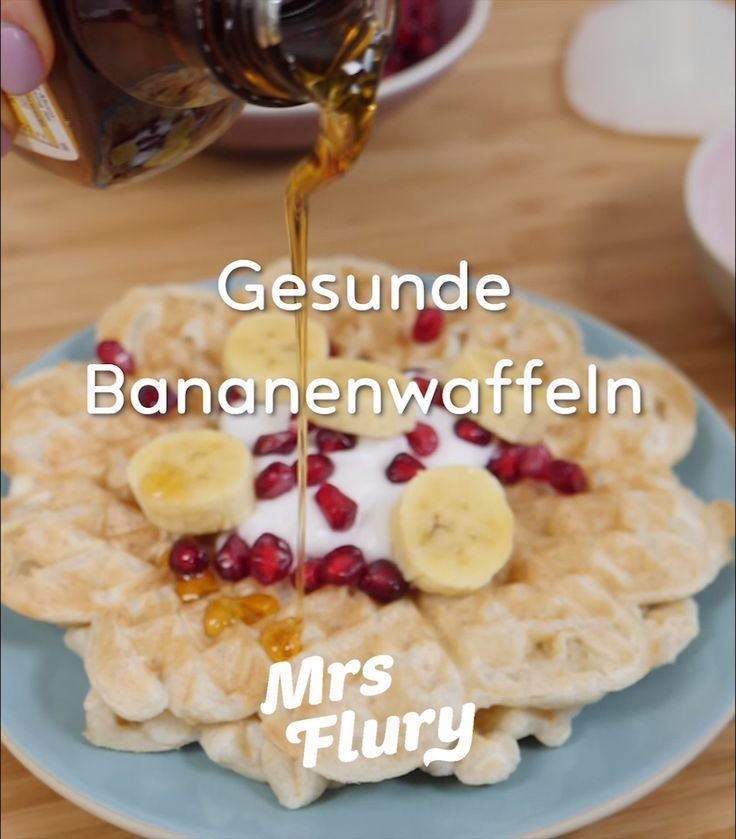 Gesunde Dinkel Bananen Waffeln vegan ohne Zucker - Dinkel Bananen Waffeln vegan ohne Zucker -