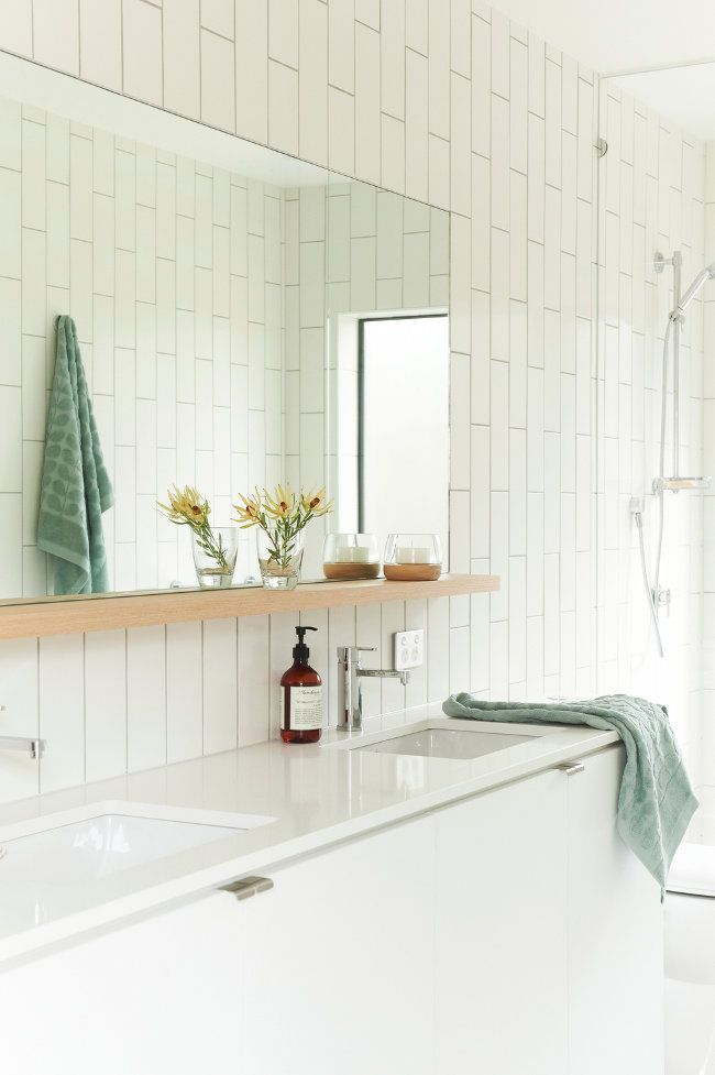 Great Bathroom Mirror With Shelf Modern Beach House Desire To Inspire Desiretoinspire