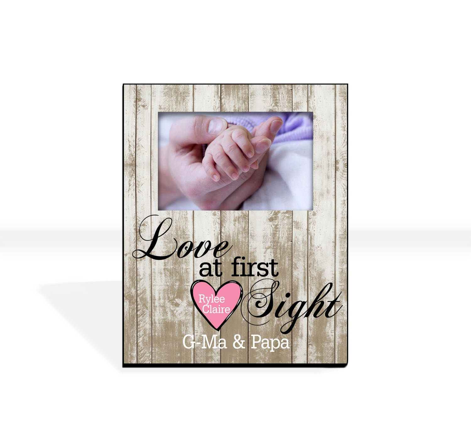 Custom Photo Frame First Grandchild Gift First Granddaughter Gift ...