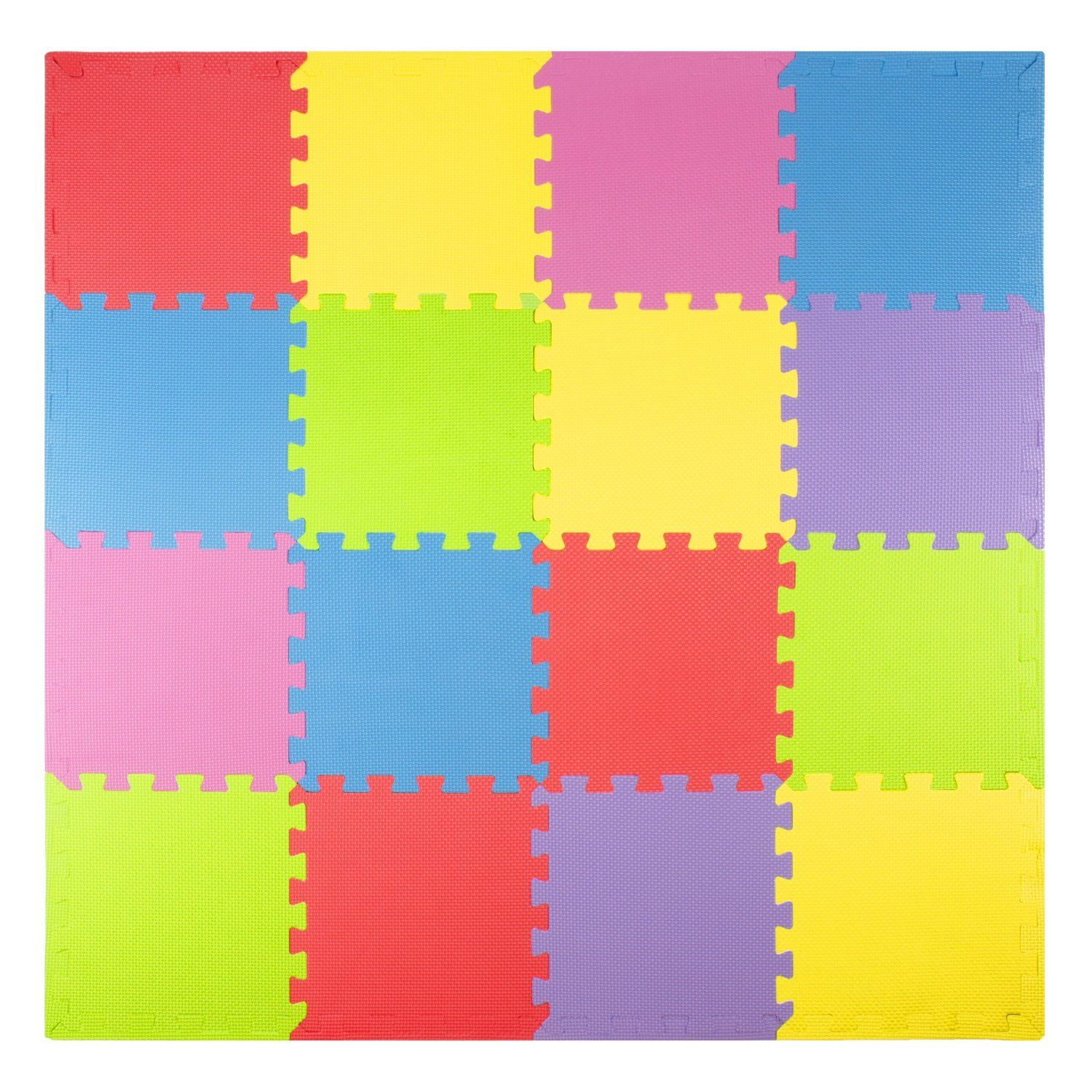 Foam play mats 16 tiles borders kids for Mats for kids room