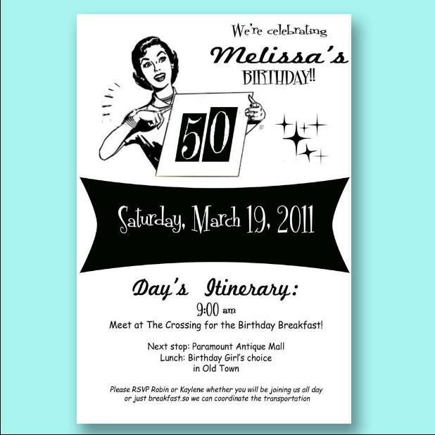 50Th Birthday Invitations Templates Free – 50th Birthday Invitations Free Templates