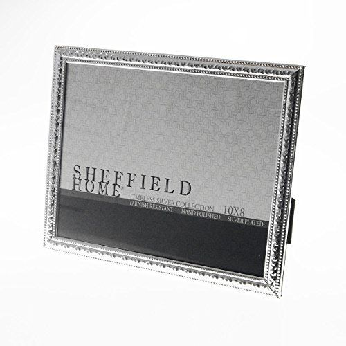 Sheffield Home Silver Plated Timeless Collection 8 X 10 Photo Frame