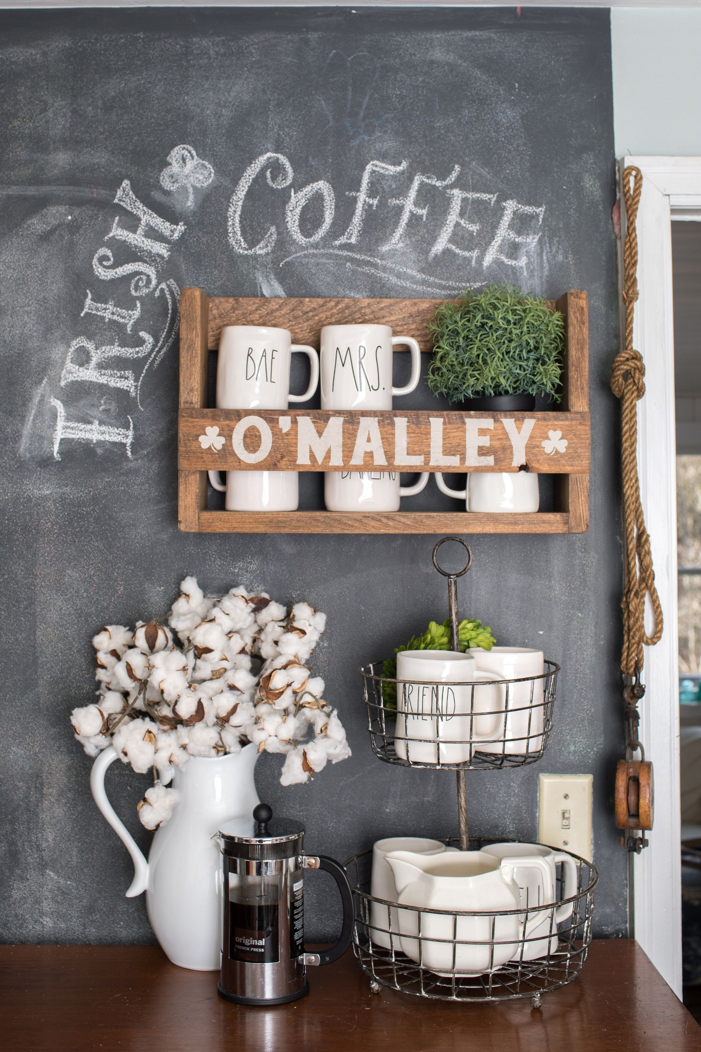 Farmhouse Coffee Shop The Cutest Coffee Bar For A Modern Farmhouse Kitchen Click The