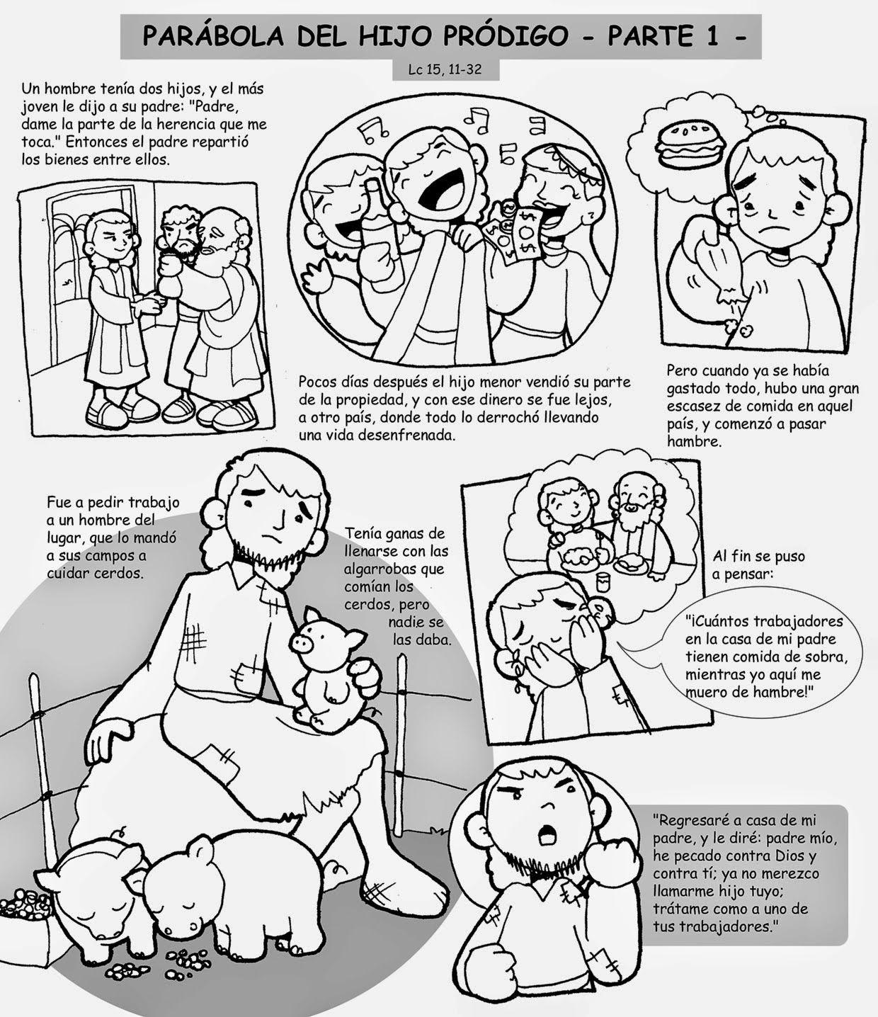 parabola_hijo_prodigo_01-bn.jpg (1240×1436) | ENSEÑANZA BÍBLICA ...