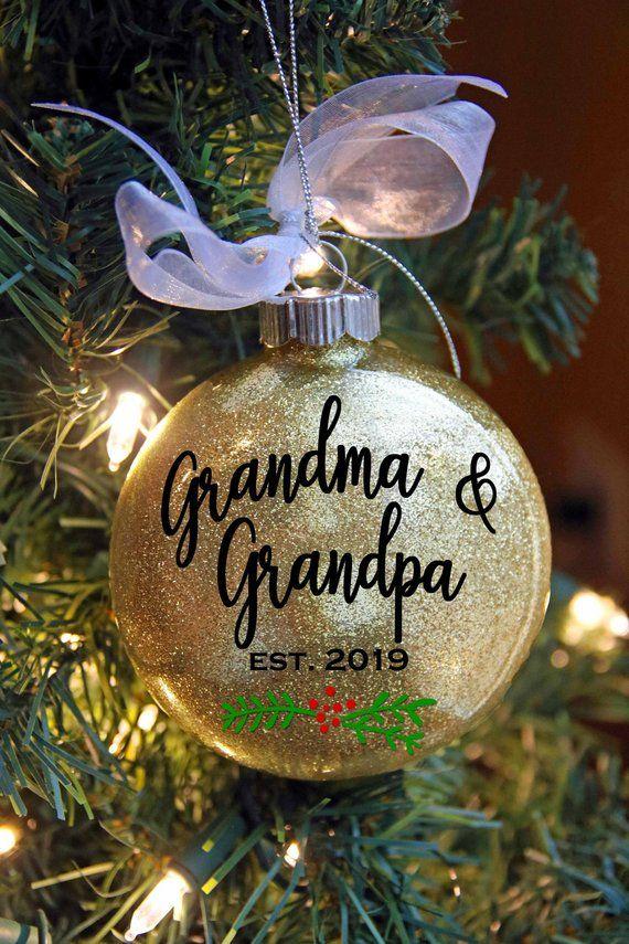 71af9ed9f1215 Pregnancy Announcement Grandparents - Christmas Ornament - Personalized  Grandma Grandpa - Pregnancy