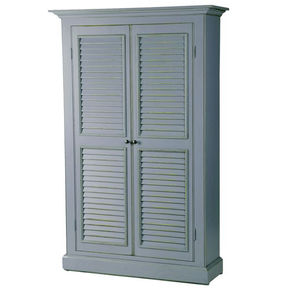 Tall Pantry Wall Cabinet 12 Deep Louvered Doors Google Search Decoracion De Unas