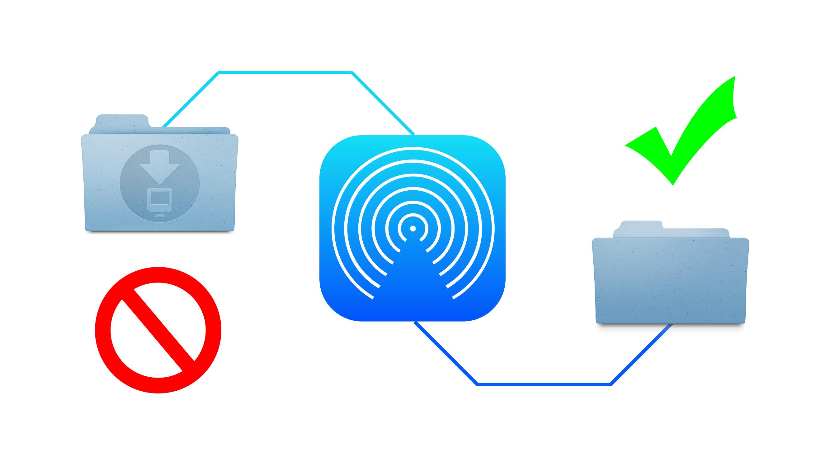 How to change the default AirDrop destination folder on Mac