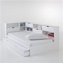 Lit Avec Tiroir Rangements Et Sommiers Yann Future House Lights - Lit avec tiroir et etagere
