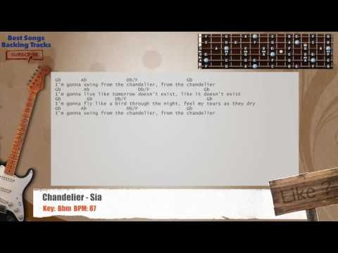 Chandelier - Sia Guitar Backing Track with chords and lyrics ...