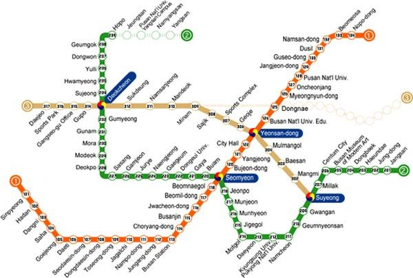Subway Map Of Busan.Busan Has An Easy To Use And Super Convenient Metro With The Busan