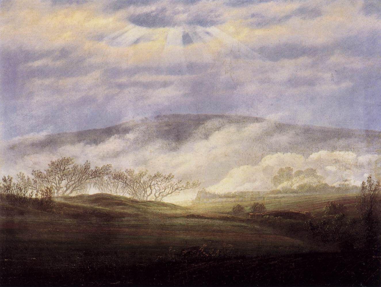 Caspar David Friedrich Paisaje Abstracto Pintura Al Oleo