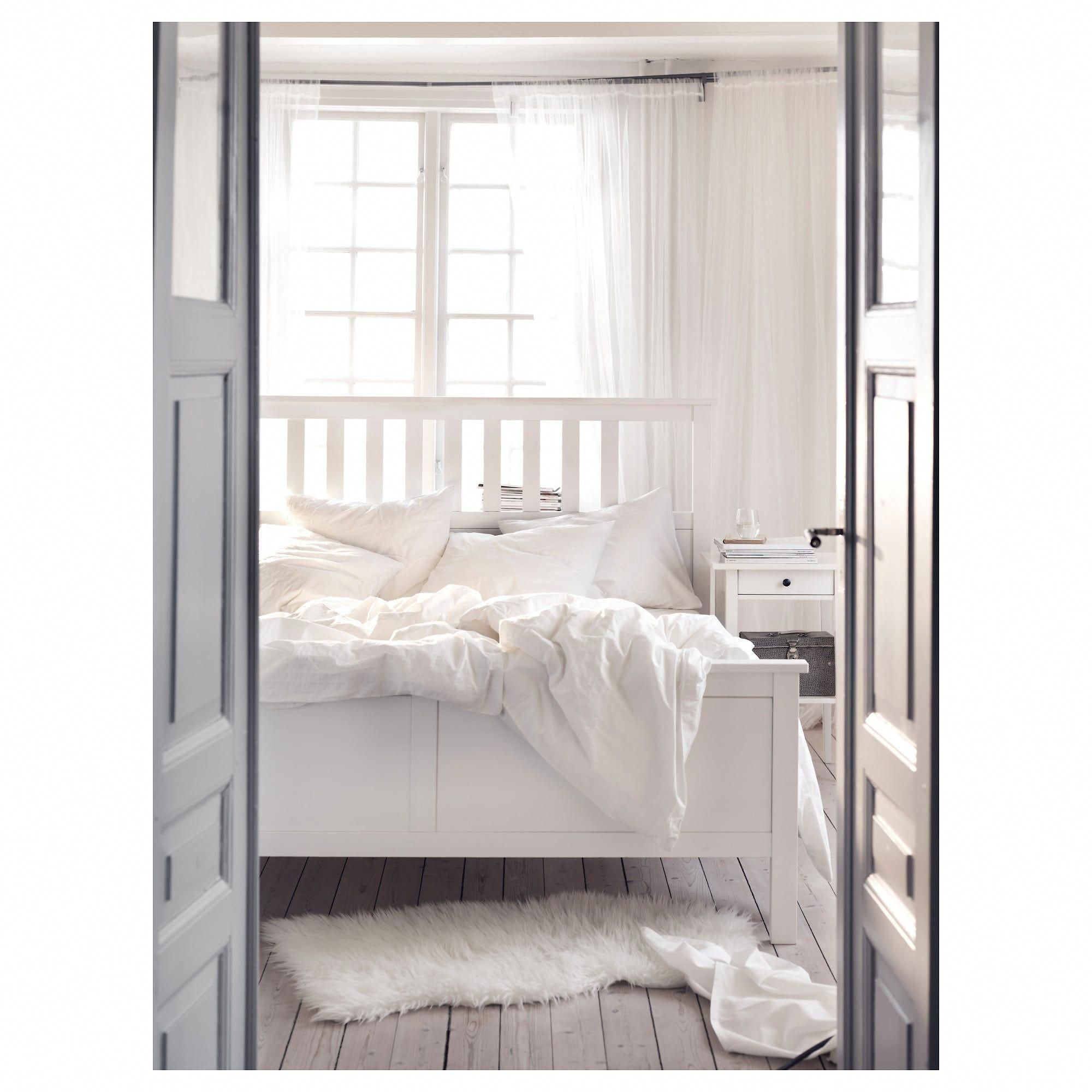 IKEA HEMNES White Stain Bed frame beds in 2020 Bed