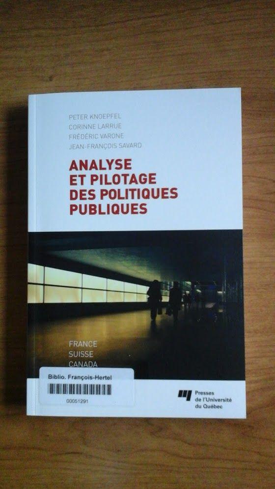 Analyse et pilotage des politiques publiques (320.6 K723a)