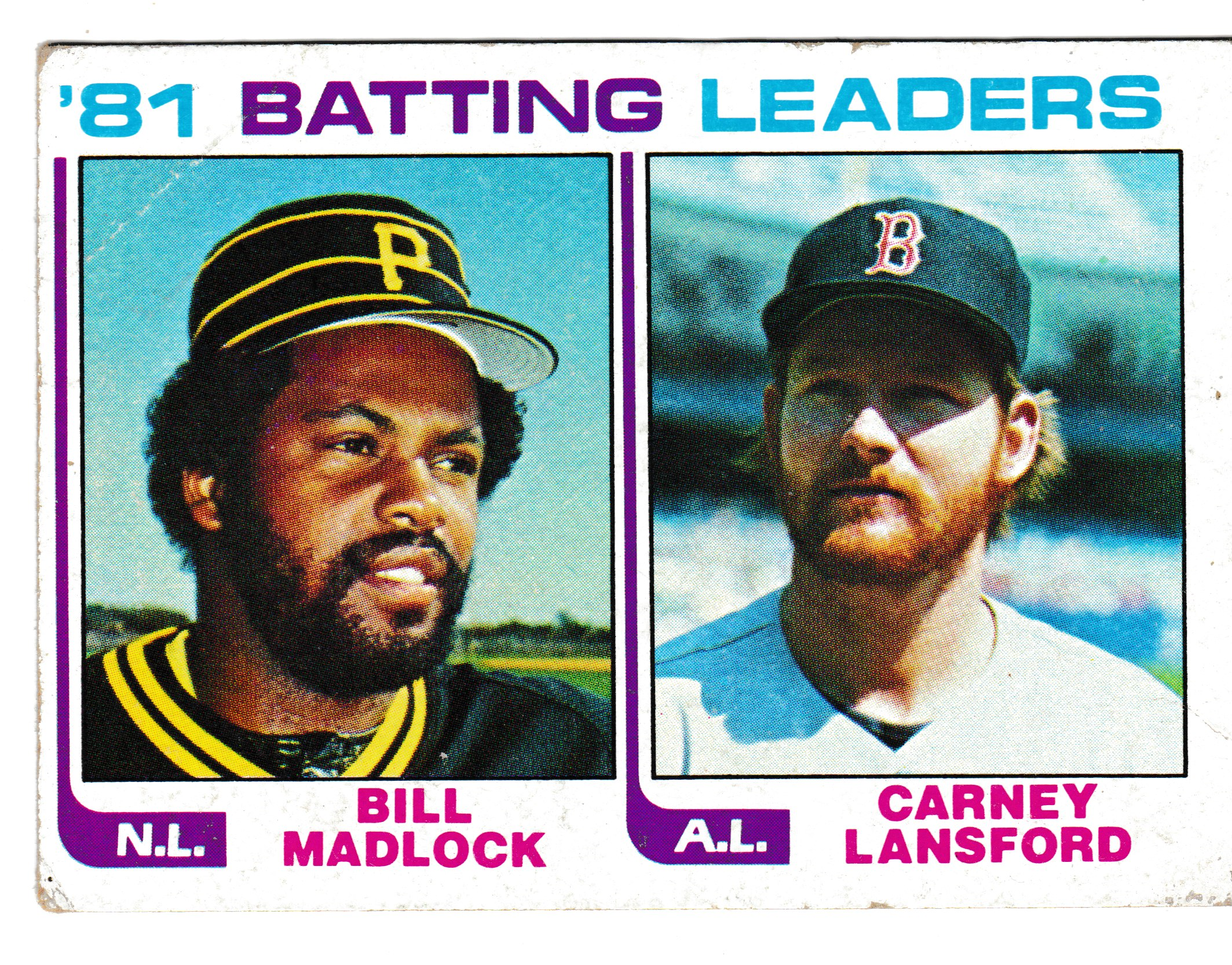 1981 Batting Leaders Bill Madlock Of The Pirates Carney