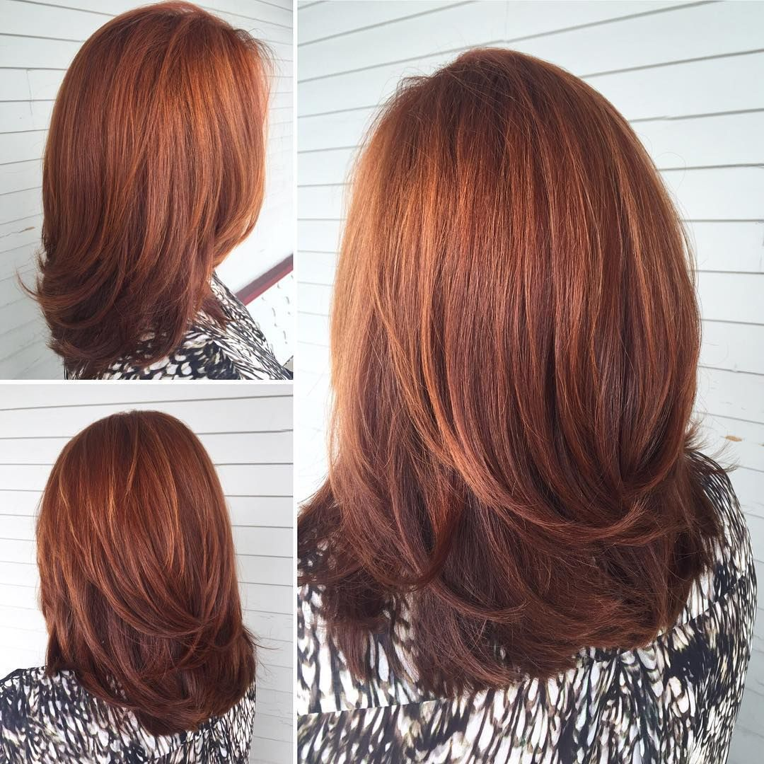 Radiant Red Layers Hair Colors Pinterest Hair Coloring