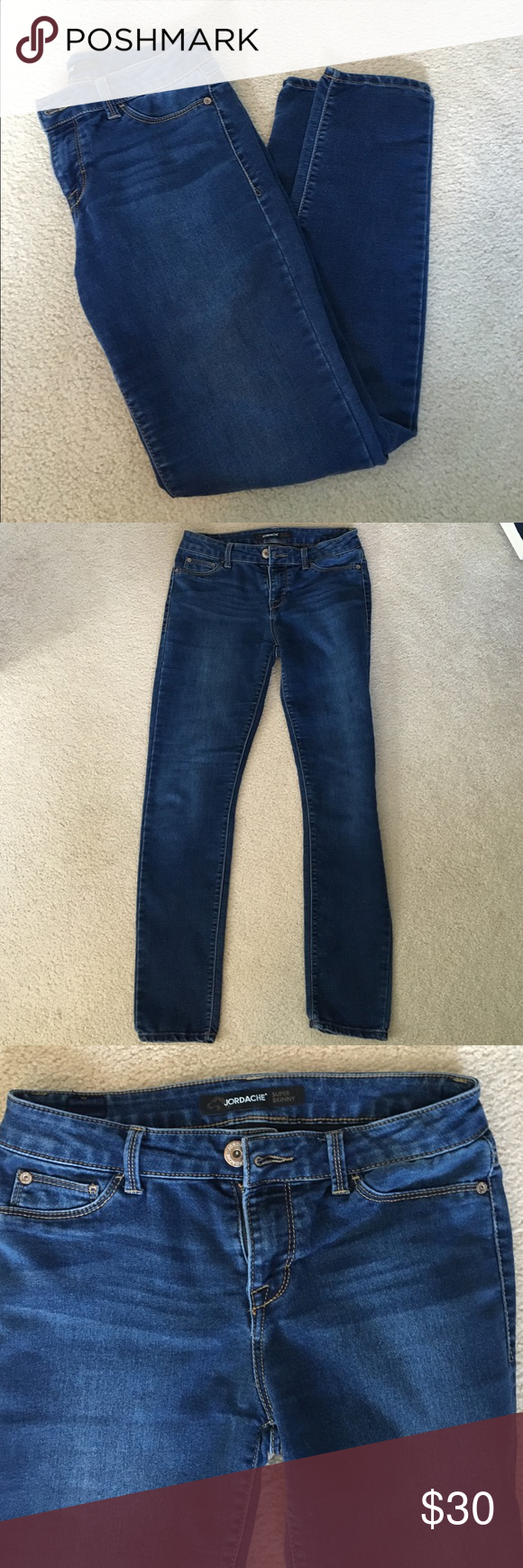 Jordache Super Skinny Jeans Excellent condition. These are so soft. Jordache supper skinny jeans. Jordache Jeans Skinny