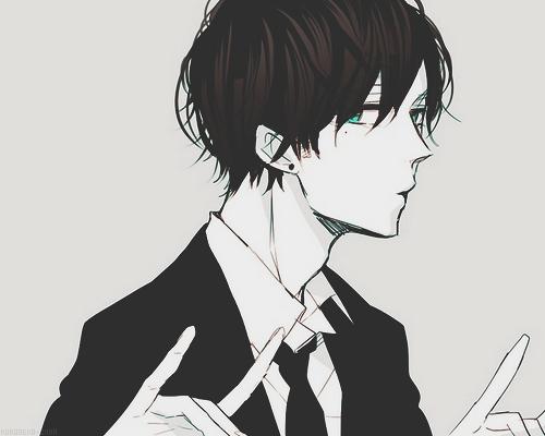 Tumblr Black Hair Anime Guy Dark Anime Anime