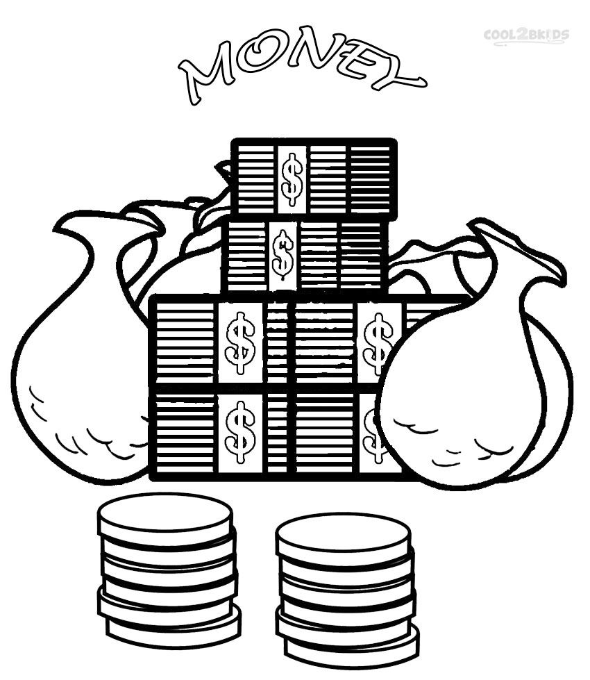 Printable Money Coloring Pages For Kids Cool2bkids Coloring Pages For Kids Free Coloring Pages Coloring Pages For Teenagers