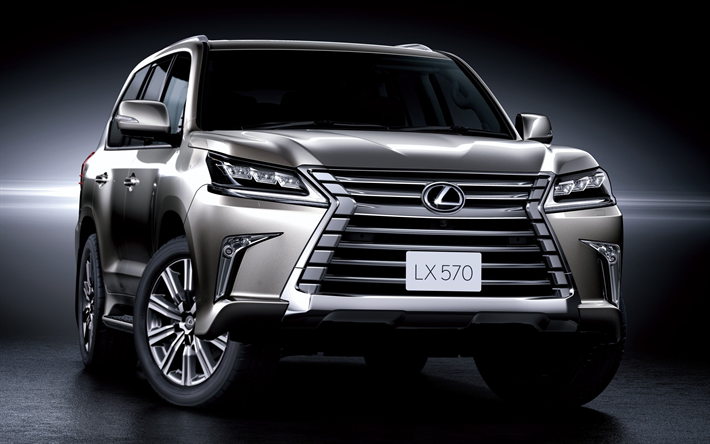 Download wallpapers Lexus LX 570, 2018, front view, luxury