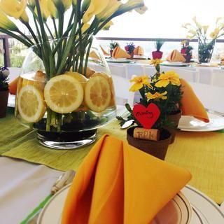 table spring lemon