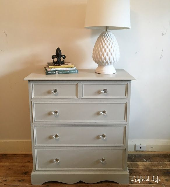 English Chest Of Drawers Painted In Ascp Chalk Paint Mix Putty Colour