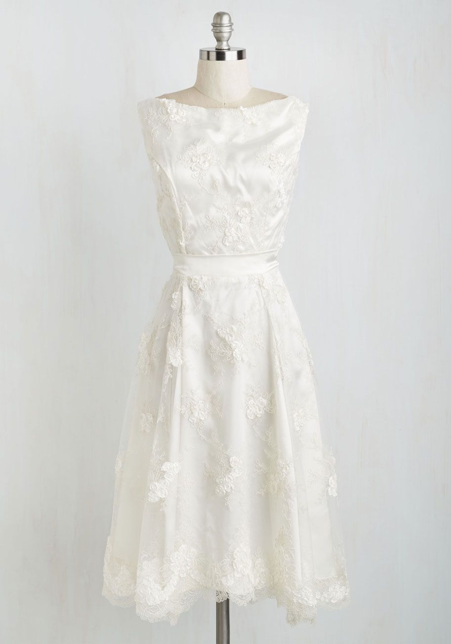 Soda fountain aline dress in ginger modcloth ivory dresses and ivory