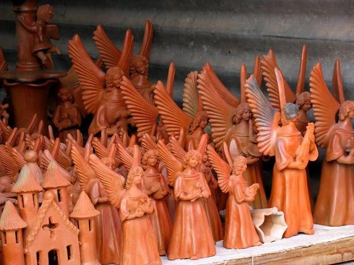las artesanas son en la decoracin navidea entre ellas los ngeles casitas