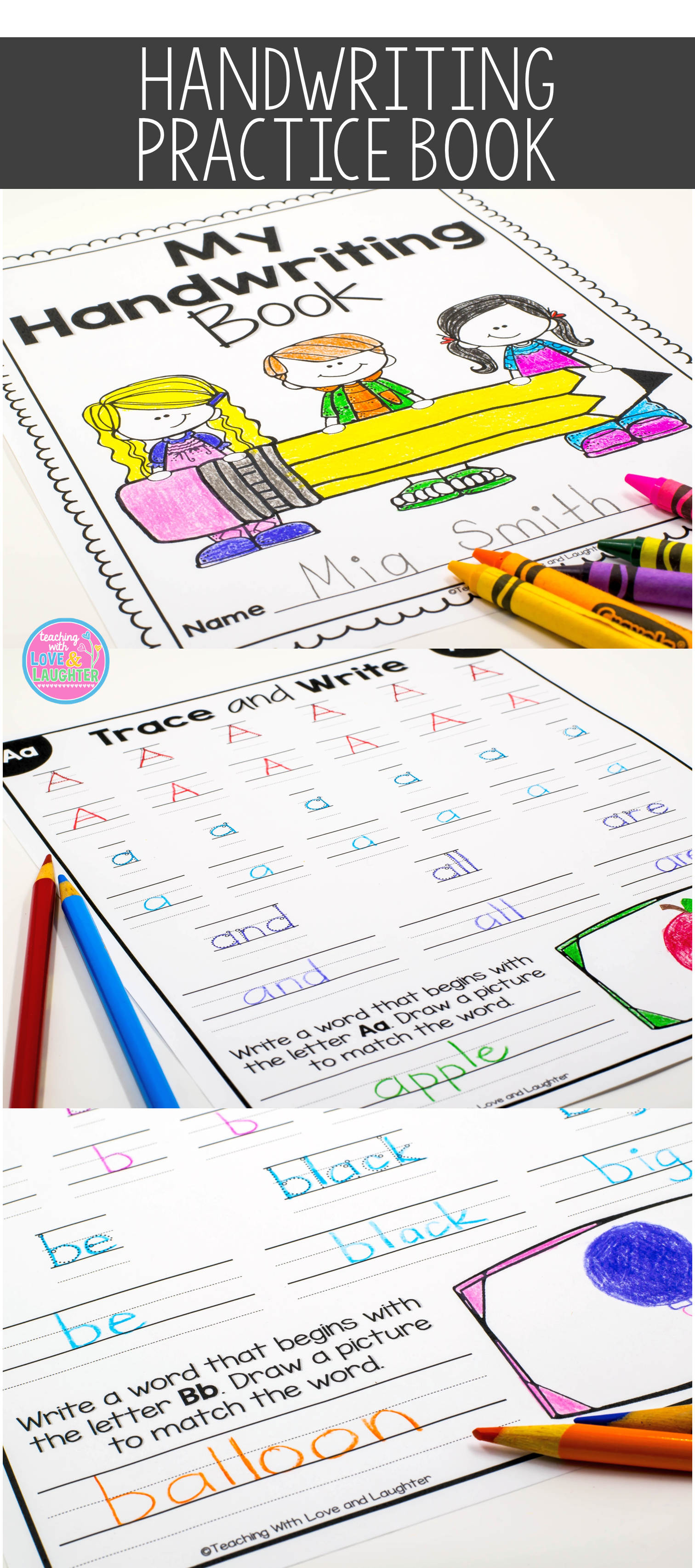 Give Your Students A Chance To Develop And Perfect Their Handwriting Skills With This Cute