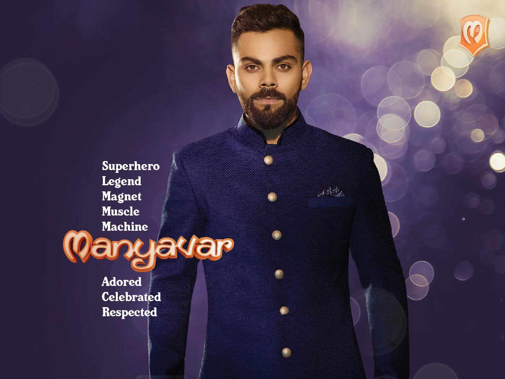 The Man Virat Kohli Is Manyavar Manyavar Virat And Anushka Indian Groom
