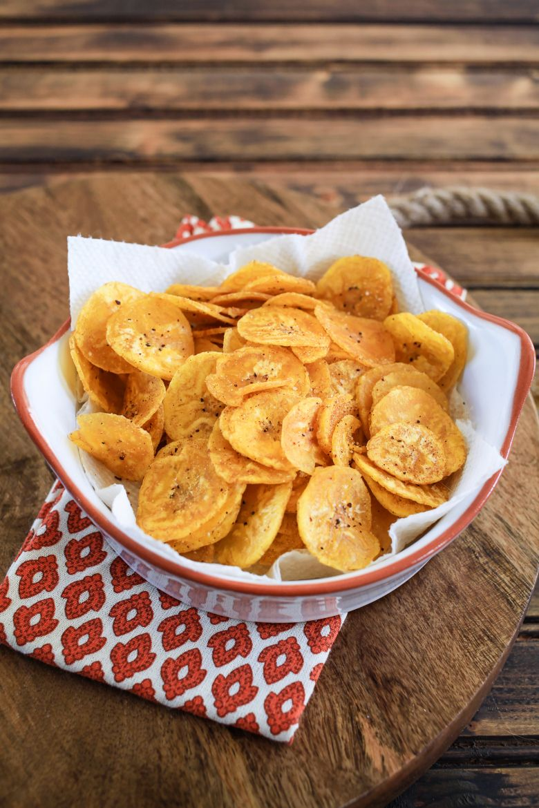 Garlic Plantain Chips Recipe Food Food Recipes Soul Food