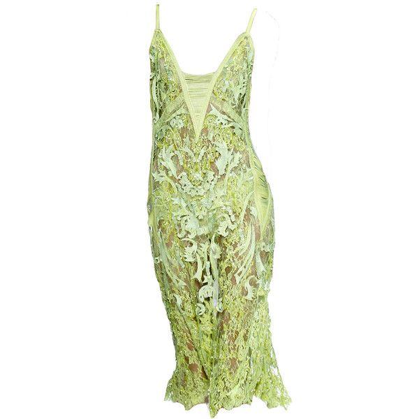 RobertoCavalli-editedbyelfemme ❤ liked on Polyvore featuring dresses, edit, gowns, green dress, short dresses, short green dress, green color dress and green mini dress