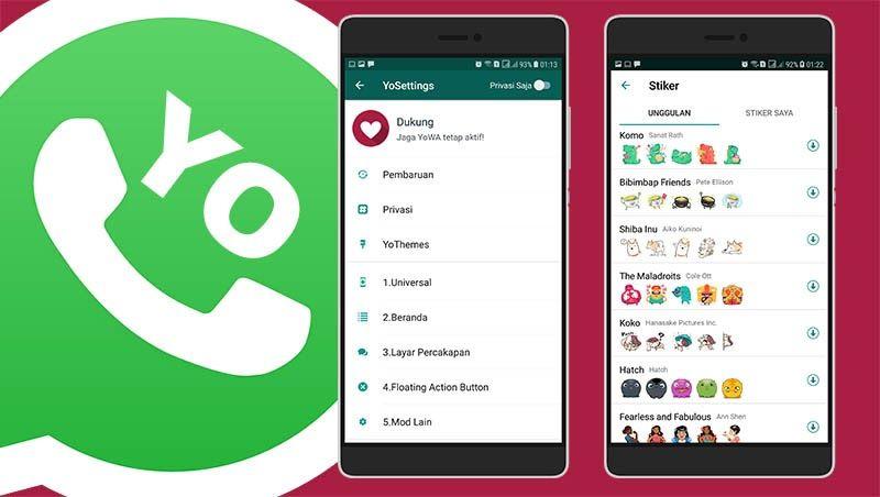 Download Yowhatsapp Apk Mod Versi 7 81 Terbaru 2020 Download Whatsapp Mod Apk Paling Keren Update 2020 Whatsapp Mod Apk Download 2 Aplikasi Bibimbap Stiker