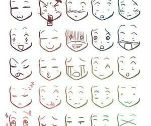Anime Faces Different Expressions Emotions Funny Chibi How To