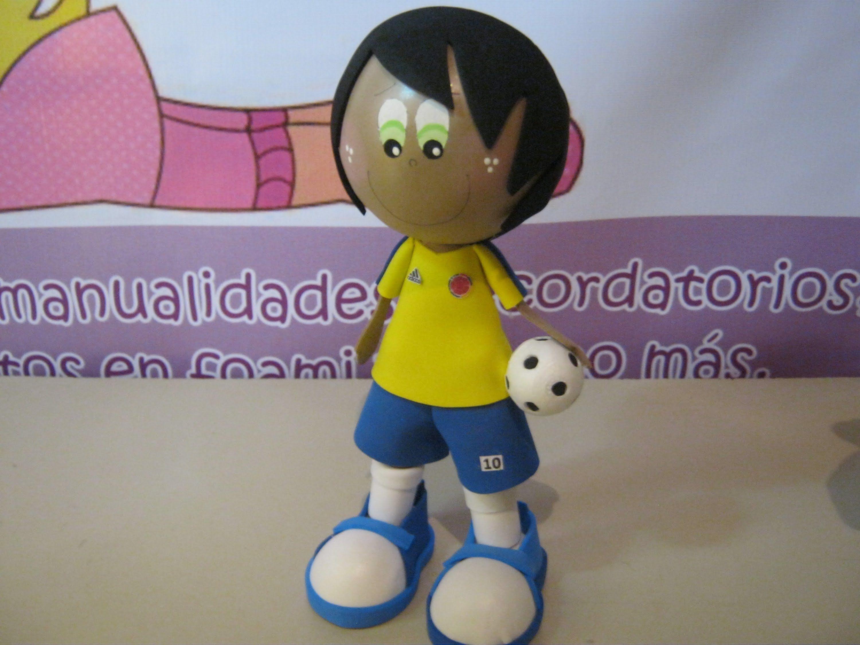 86384aa721e CATALOGO DE FOFUCHOS FUTBOLISTAS SELECCION COLOMBIA EN FOAMI O GOMA EVA.