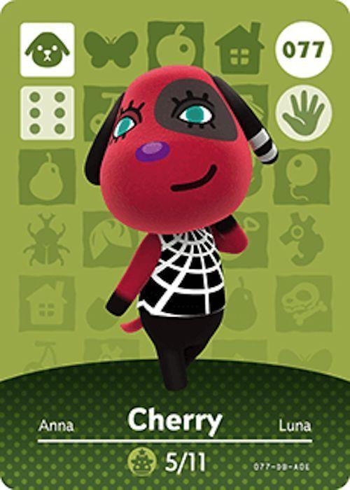 Nintendo Animal Crossing Happy Home Design Cherry Amiibo