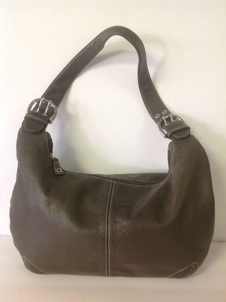 51d6cde057 Tigbags Tignanello Genuine Leather Hobo Bag Olive Green Designer Fashion  Chic