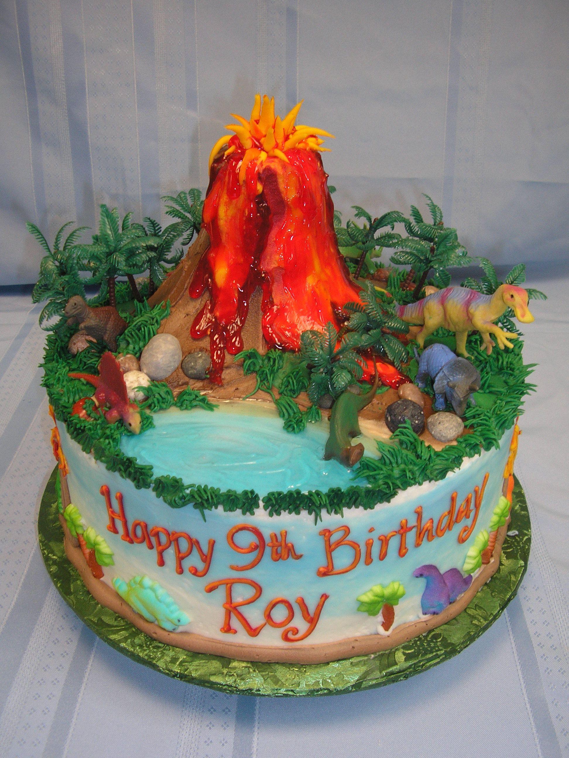 Dinosaur Train Volcano Cake
