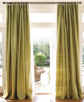 Curtains Maketh The Room Green Curtains Dining Room Windows