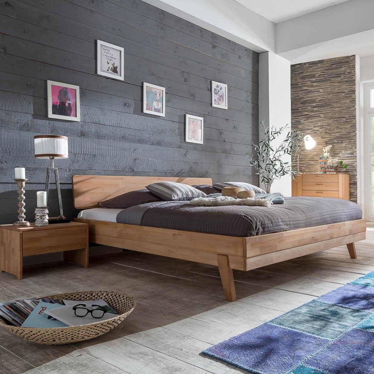 bett eidsberg 140x200 in kernbuche massiv ge lt m bel. Black Bedroom Furniture Sets. Home Design Ideas