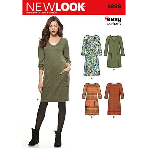 Buy New Look Women\'s Dress Sewing Pattern, 6298 Online at johnlewis ...