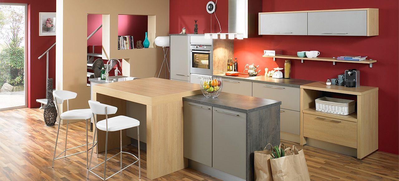 cuisine quip e avec lot et lin aire dolce plan maison. Black Bedroom Furniture Sets. Home Design Ideas